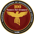 National Association of Distinguished Counsel - Nation's Top 100 Attorneys Badge