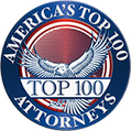 America's Top 100 Personal Injury Attorneys - 2021 Badge - Personal Injury Attorneys - Lake Charles LA - Lundy Lundy Soileau & South